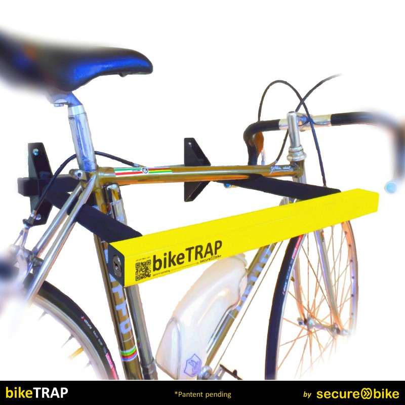 Keep safe your bike ! bikeTRAP Bicycle wall rack and high security lock